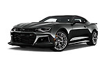 Stock pictures of low aggressive front three quarter view of 2018 Chevrolet Camaro ZL1 2 Door Coupe Low Aggressive