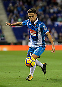 30th October 2017, Cornella-El Prat, Cornella de Llobregat, Barcelona, Spain; La Liga football, Espanyol versus Real Betis; Oscar Melendo of Espanyol controls the loose ball
