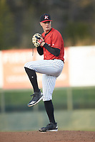 Kannapolis Intimidators starting pitcher Kade McClure (30) in action against the Lakewood BlueClaws at Kannapolis Intimidators Stadium on April 5, 2018 in Kannapolis, North Carolina.  The Intimidators defeated the BlueClaws 4-3.  (Brian Westerholt/Four Seam Images)