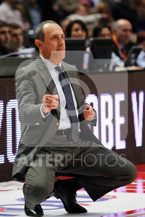Madrid.- (10/02/2011).-LXXV COPA DE S.M. EL REY.FASE FINAL.Real Madrid- Gran Canaria.Ettore Messina...©Alex Cid-Fuentes/AlfaquiFotografia