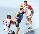 21.01.2013 Barcelona, Spain. IHF men's world championship, Eighth Final. Picture show Dragan Gajic  in action during game slovenia vs Egypt at Palau St Jordi