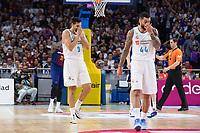 Madrid, 12 de noviembre de 2017. Felipe Reyes se lamenta durante el encuentro entre el Real Madrid Baloncesto y FC Barcelona Lassa, correspondiente a la octava jornada de la Liga Endesa, disputado en el WiZink Center. (Foto: Mateo Villalba-Agencia LOF)