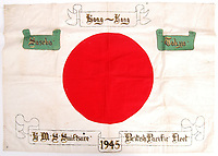 Sold - The Japanese flag handed to the British when the country surrendered in World War Two.