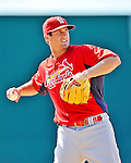 12 March 2012: St. Louis Cardinals infielder David Freese warms up prior to a Spring Training game against the Washington Nationals at Space Coast Stadium in Viera, Florida. The Nationals defeated the Cardinals 8-4 in Grapefruit League play. Mandatory Credit: Ed Wolfstein Photo