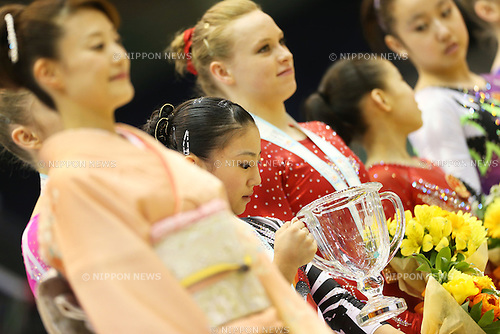 Asuka Teramoto (JPN), .April 7, 2013 - Artistic Gymnastics : .FIG Artistic Gymnastics World Cup, Tokyo Cup 2013 .Women's Individual All-round Medal Ceremony .at Komazawa Gymnasium, Tokyo, Japan. .(Photo by Daiju Kitamura/AFLO SPORT)