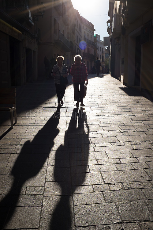Shadows and Sant Cugat del Valles, Barcelona, Catalonia, Spain