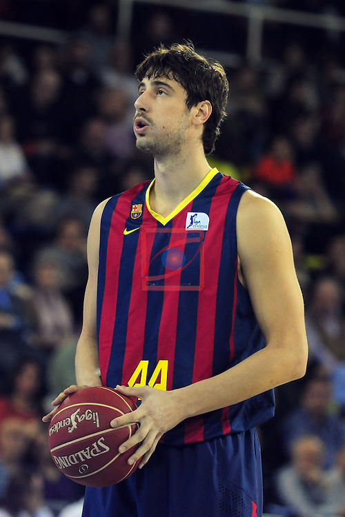 League ACB-Endesa 2014/2015 - Game: 07.<br /> FC Barcelona vs Valencia Basket Club: 76-57.<br /> Ante Tomic.