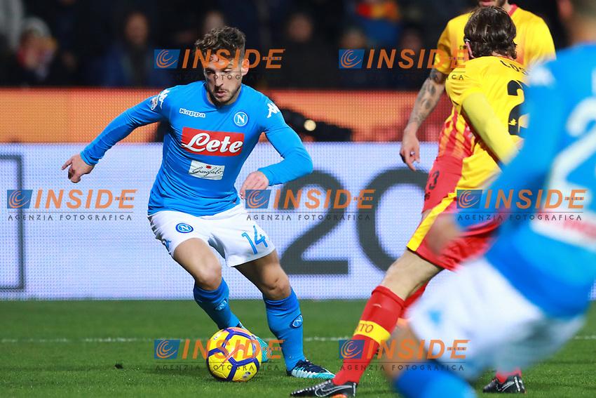 Dries Mertens Napoli <br /> Benevento 04-02-2018  Stadio Ciro Vigorito<br /> Football Campionato Serie A 2017/2018. <br /> Benevento - Napoli<br /> Foto Cesare Purini / Insidefoto