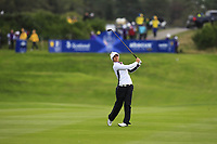Azahara Munoz of Team Europe on the 2nd fairway during Day 2 Foursomes at the Solheim Cup 2019, Gleneagles Golf CLub, Auchterarder, Perthshire, Scotland. 14/09/2019.<br /> Picture Thos Caffrey / Golffile.ie<br /> <br /> All photo usage must carry mandatory copyright credit (© Golffile | Thos Caffrey)