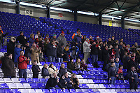 GOSL - Fleetwood Town fans celebrates teams first goal scored by Fleetwood Town's Devante Cole during the Sky Bet League 1 match between Oldham Athletic and Fleetwood Town at Boundary Park, Oldham, England on 26 December 2017. Photo by Juel Miah / PRiME Media Images.