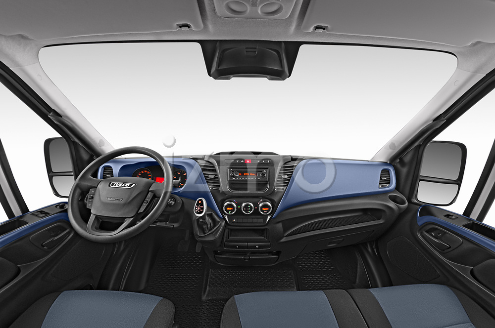 Stock photo of straight dashboard view of 2018 Iveco Daily S 4 Door Cargo Van Dashboard