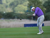 17.10.2014. The London Golf Club, Ash, England. The Volvo World Match Play Golf Championship.  Day 3 group stage matches.  Graeme McDowell (NIR) second shot on the fifth hole