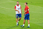 Jordi Alba and Lucas Vazquez during Spain training session at Santiago Bernabeu Stadium in Madrid, Spain September 01, 2017. (ALTERPHOTOS/Borja B.Hojas)