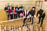 Members of the Slainte Active Retired, very active playing Pickleball in the Community Centre Castlegregory on Friday.<br /> Front l to r: Debbie Quirke, Maria Marr and John Joe O'Connor.<br /> Back l to r: Tom Quirke, Fionnuala Fitzgerald, Bridie Costello, Joan Fitzgerald, Noreen Cronin, Joan O'Connor, Siobhan Hennessy and Ann O'Connor.