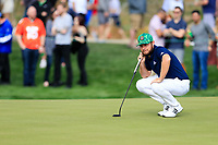 Tyrrell Hatton (ENG) on the 9th green during the 3rd round of the Waste Management Phoenix Open, TPC Scottsdale, Scottsdale, Arisona, USA. 02/02/2019.<br /> Picture Fran Caffrey / Golffile.ie<br /> <br /> All photo usage must carry mandatory copyright credit (© Golffile | Fran Caffrey)