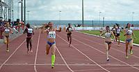BRASÍLIA, DF, 30.11.2013 – GYMNASIADE 2013 – JOGOS MUNDIAIS ESCOLARES – A atleta russa Kudryavtseva Anastasiya venceu a final dos 400m feminino nos Jogos Mundiais Escolares, neste sábado, 30. Os jogos reúnem cerca de 40 países e mais de mil estudantes/atletas entre os dias 28 de novembro a 3 de dezembro em Brasília. (Foto: Ricardo Botelho / Brazil Photo Press).