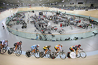A general view of the velodrome at the BikeNZ Elite & U19 Track National Championships, Avantidrome, Home of Cycling, Cambridge, New Zealand, Friday, March 14, 2014. Credit: Dianne Manson