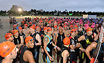 MIAMI BEACH, FLORIDA - APRIL 03: A general view of atmosphere of athlete waiting at the staring line and Takes Part In Life Time South Beach Triathlon swim at Lummus Park on April 3, 2016 in Miami Beach, Florida. ( Photo by Johnny Louis / jlnphotography.com )
