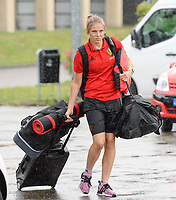 20170725 - TILBURG , NETHERLANDS :  Belgian Lorca Van De Putte pictured going back to Belgium as the Belgian national women's soccer team Red Flames was not able to qualify for the quarter finals after a loss against The Netherlands , on Tuesday 25 July 2017 in Tilburg . The Red Flames finished on 3 th place in Group A at the Women's European Championship 2017 in the Netherlands. PHOTO SPORTPIX.BE | DAVID CATRY