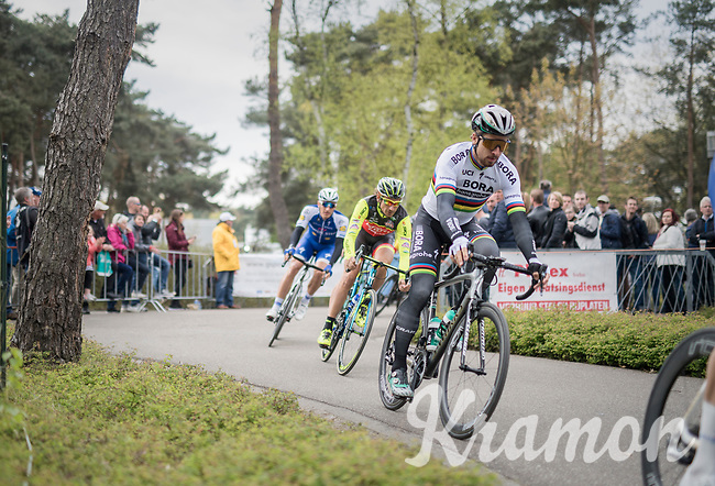 Fellow riders/colleagues/friends Peter Sagan (SVK/Bora-Hansgrohe), Filippo 'Pipo' Pozzato (ITA/Wilier Triestina–Southeast) & Marcel Kittel (GER/Quick Step Floors) all coming to say goodbye at the Tom Boonen farewell race/criterium 'Tom Says Thanks!' in Mol/Belgium