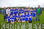 The St Mary's/Renard U14 team who defeated Waterville/Dromid 3-8 to 0-5 in the South Kerry Championship Final in Dromid on Sunday pictured here front l-r; Gareth Evans, Patrick Devane, Dara O'Shea, Blaine McCarthy, Eoghan McDaid, Jack O'Mahony, Adrian O'Sullivan, Stephen Corcoran, back l-r; Patrick McDaid(Trainer), Brian Corcoran, Mike O'Leary, Ryan O'Sullivan, Jack Landers, Muiris Fitzgerald, Jim Sugrue, Óisín Moran, Frank Curran(Trainer), Shane O'Donoghue, Mark Quigley(Water Boy), Aidan O'Sullivan, Cian Esmonde & Frank McCarthy(Trainor).