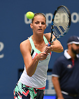 FLUSHING NY- AUGUST 31: Karolina Pliskova Vs Nicole Gibbs during the 2017 US Open at the USTA Billie Jean King National Tennis Center on August 31, 2017 in Flushing Queens. Credit: mpi04/MediaPunch ***NO NY DAILIES***