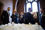 © Joel Goodman - 07973 332324 - all rights reserved . No onward sale/supply/syndication permitted . 28/07/2016 . Manchester , UK . RYAN GIGGS and GARY NEVILLE at the launch of the St Michael's city centre development , at the Lord Mayor's Parlour in Manchester Town Hall . Backed by The Jackson's Row Development Partnership (comprising Gary Neville , Ryan Giggs and Brendan Flood ) along with Manchester City Council , Rowsley Ltd and Beijing Construction and Engineering Group International , the Jackson's Row area of the city centre will be redeveloped with a design proposed by Make Architects . Photo credit : Joel Goodman