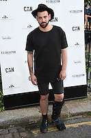 Jay Camilleri<br /> arrives for the Amy Childs Summer Collection show at Beach Blanket Babylon, Notting Hill, London.<br /> <br /> <br /> ©Ash Knotek  D3129  06/06/2016