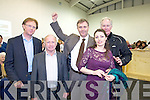 Graham Spring Celebrates with Arthur Spring, Pat Leahy, His wife Carmel and Arthur Spring Snr  at the local elections at John Mitchels on Sunday.