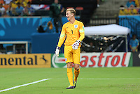 Englands Joe Hart Finds something Amusing