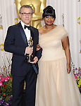 Christoph Waltz and Octavia Spencer in the press room at the 85th Academy Awards, held at the Dolby Theater in Los Angeles, CA. February 24, 2013