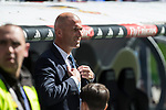 Zinedine Zidane coach  of Real Madrid during the match of  La Liga between Real Madrid and Deportivo Alaves at Bernabeu Stadium Stadium  in Madrid, Spain. April 02, 2017. (ALTERPHOTOS / Rodrigo Jimenez)