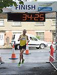 Gary O'Hanlon wins the Turfman 10K run in Ardee. Photo:Colin Bell/pressphotos.ie