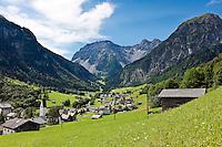 Austria, Vorarlberg, Brand: holiday resort at Brand Valley | Oesterreich, Vorarlberg, Brand: Urlaubsort im Brandnertal, das zum oesterreichischen Raetikon gehoert