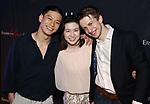 "Ji, Stephanie Zyzak and Ari Evan attends the Opening Night After Party for the Ensemble for the Romantic Century production of ""Tchaikovsky: None But the Lonely Heart"" Off-Broadway Opening Night  at West Bank Cafe on May 31, 2018 in New York City."