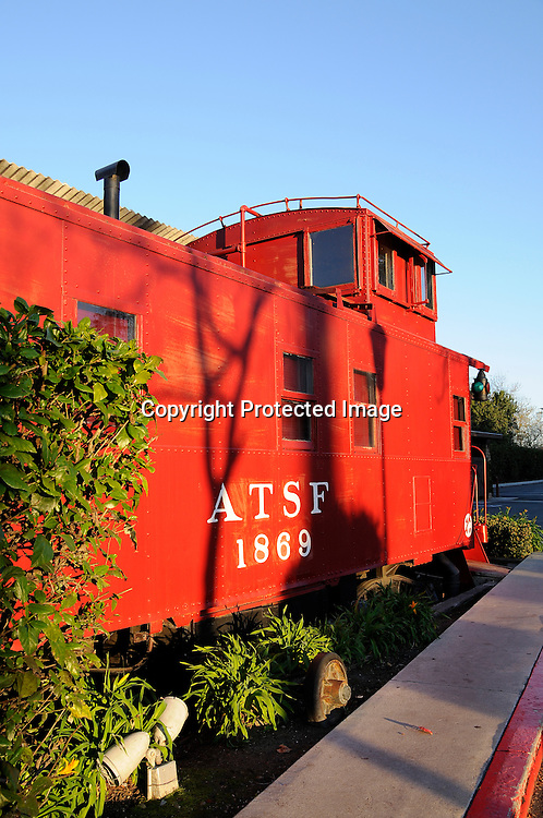 Stock Photo of train caboose