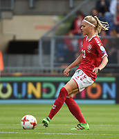 20170803 - BREDA , NETHERLANDS : Danish Stine Larsen  pictured during the female soccer game between Denmark and Austria  , the semi final at the Women's Euro 2017 , European Championship in The Netherlands 2017 , Thursday 3th of August 2017 at Stadion Rat Verlegh in Breda , The Netherlands PHOTO SPORTPIX.BE | DIRK VUYLSTEKE