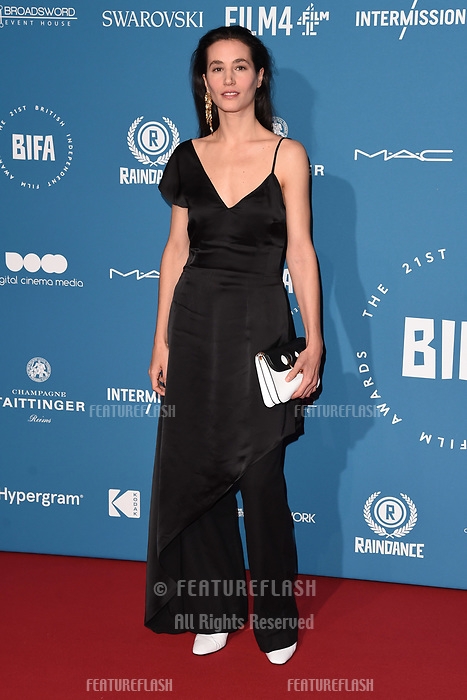 LONDON, UK. December 02, 2018: Elisa Lasowski at the British Independent Film Awards 2018 at Old Billingsgate, London.<br /> Picture: Steve Vas/Featureflash