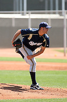 Chuck Lofgren, Milwaukee Brewers 2010 minor league spring training..Photo by:  Bill Mitchell/Four Seam Images.