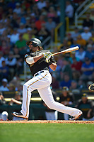 Pittsburgh Pirates first baseman Michael Morse (38) at bat during a Spring Training game against the Boston Red Sox on March 9, 2016 at McKechnie Field in Bradenton, Florida.  Boston defeated Pittsburgh 6-2.  (Mike Janes/Four Seam Images)