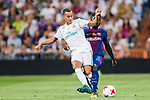 Lucas Vazquez (l) of Real Madrid battles for the ball with Samuel Umtiti of FC Barcelona during their Supercopa de Espana Final 2nd Leg match between Real Madrid and FC Barcelona at the Estadio Santiago Bernabeu on 16 August 2017 in Madrid, Spain. Photo by Diego Gonzalez Souto / Power Sport Images