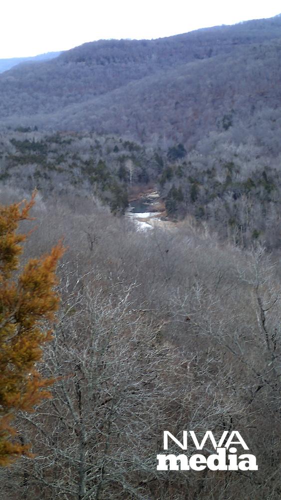 NWA Democrat-Gazette/FLIP PUTTHOFF <br /> Lee Creek is seen Jan. 1 2017 from Yellow Rock Trail.