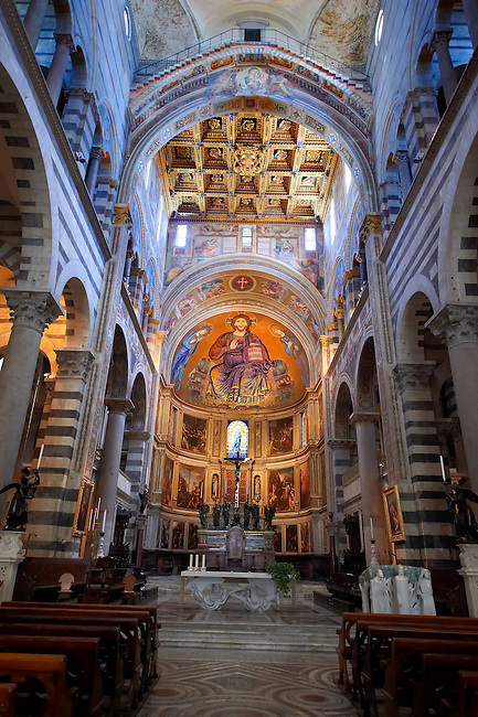 Interior of the Duomo, Pisa Italy