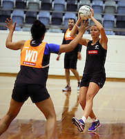 06.10.2014 Silver Fern Casey Kopua in action at the Silver Ferns training ahead of the netball test match againt Australia in Melbourne. Mandatory Photo Credit ©Michael Bradley.