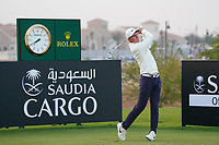 Marcus Kinhult (SWE) on the 11th during Round 2 of the Saudi International at the Royal Greens Golf and Country Club, King Abdullah Economic City, Saudi Arabia. 31/01/2020<br /> Picture: Golffile | Thos Caffrey<br /> <br /> <br /> All photo usage must carry mandatory copyright credit (© Golffile | Thos Caffrey)