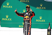June 11th 2017, Circuit Gilles Villeneuve, Montreal Quebec, Canada; Formula One Grand Prix, Race Day; Podium for Daniel Ricciardo - Red Bull Racing in 3rd