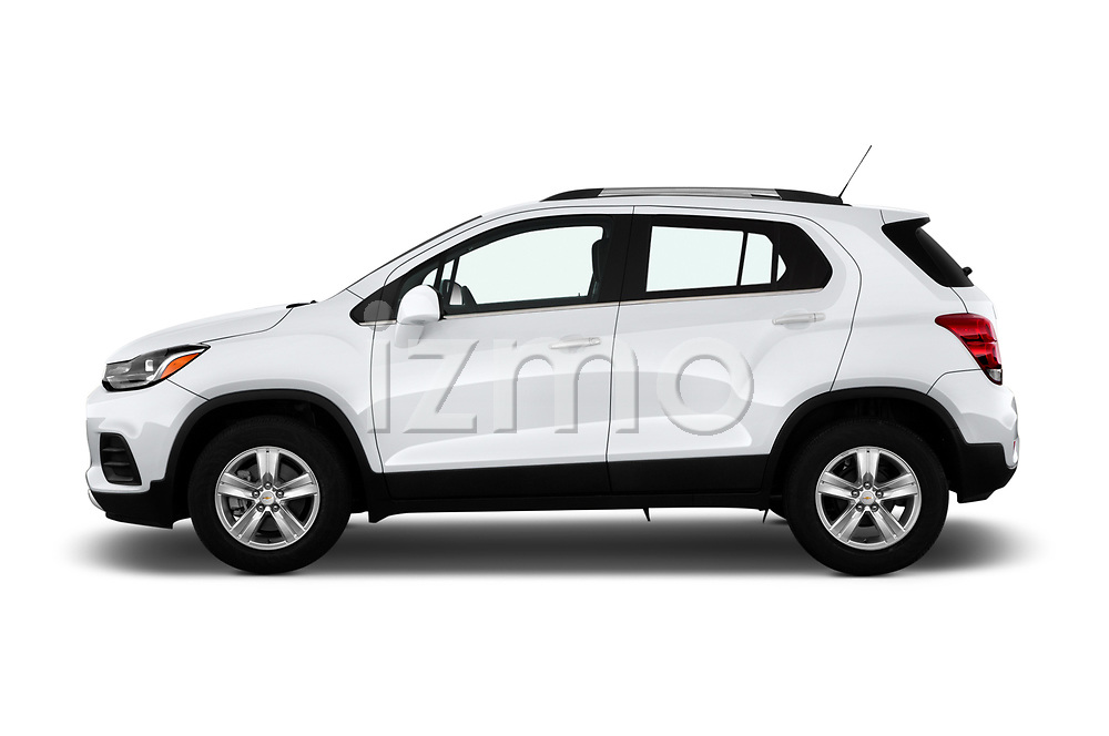 Car driver side profile view of a 2018 Chevrolet Trax LT 5 Door SUV