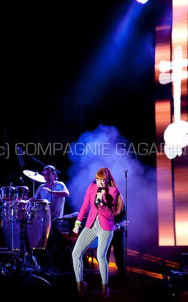 Flemish singer Natalia in concert at the Kanaalfeesten in Willebroek (Belgium, 29/06/2013)