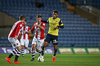 Tyler Roberts of Oxford United in action during the The Checkatrade Trophy match between Oxford United and Exeter City at the Kassam Stadium, Oxford, England on 30 August 2016. Photo by Andy Rowland / PRiME Media Images.