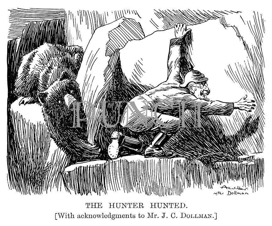 The Hunter Hunted. [with acknowledgements to Mr. J.C. Dollman.]